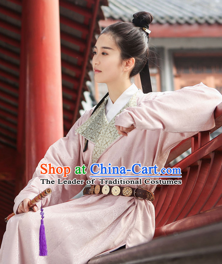 Traditional Chinese Ancient Tang Dynasty Costumes Clothing and Headgear Complete Set for Women and Men