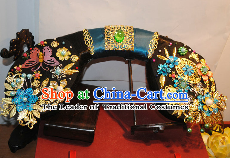 Qing Dynasty Chinese Imperial Palace Princess Hair Accessories Set for Women