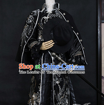 Ancient Chinese Style Emperor King Costumes Clothing for Men Boys