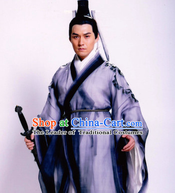 Chinese Traditional Taoist Dress Hanfu Costume China Kimono Robe Ancient Chinese Clothing National Costumes Gown Wear for Men