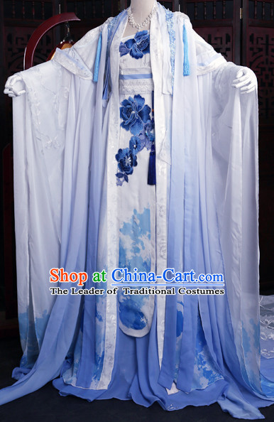 Chinese Imperial Empress Clothing Cosplay Dresses National Costume Traditional Chinese Clothing Attire Complete Set