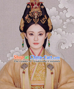 China Han Dynasty Imperial Royal Quene Hairpins Hair Accessories Hairstyle Wigs Chinese Oriental Hairstyles Headpieces