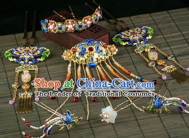Chinese Imperial Quene Crown Empress Hairpins Hair Accessories Hairstyle Chinese Oriental Hairstyles Headpieces Wigs