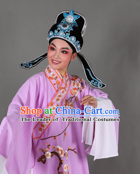 Chinese Opera Costumes Huangmei Opera Stage Performance Costume Chinese Traditional Water Sleeve Costume Drama Costumes and Hat Complete Set