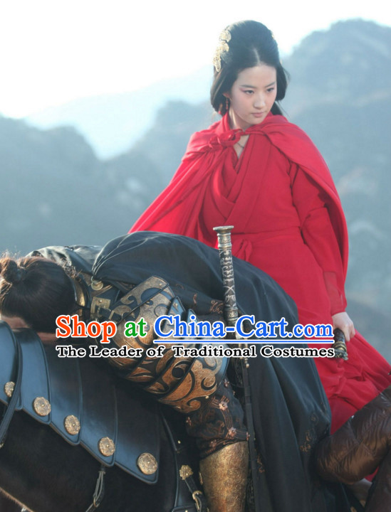 Ancient Chinese Beauty Hanfu Han Fu Clothing and Mantle Complete Set for Women