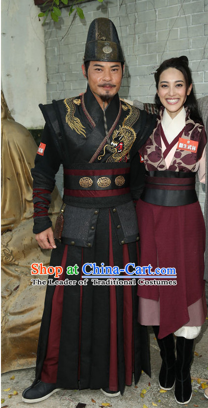 Ancient Chinese Swordsman Hanfu Han Fu Clothing Complete Set