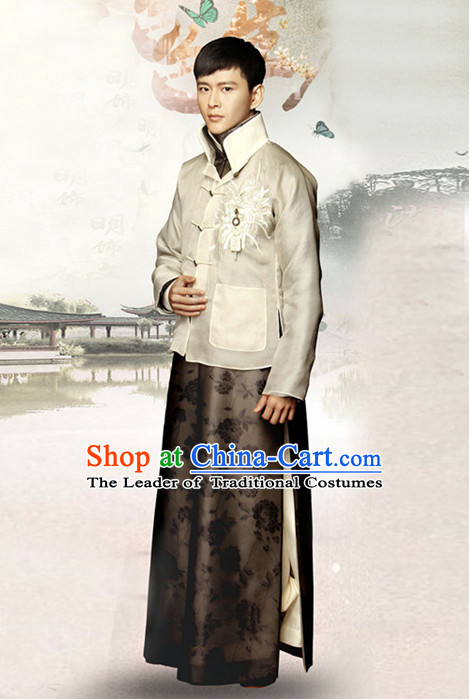 Top Chinese Minguo Clothing Theater and Reenactment Costumes Ancient Chinese Clothes Complete Set for Men