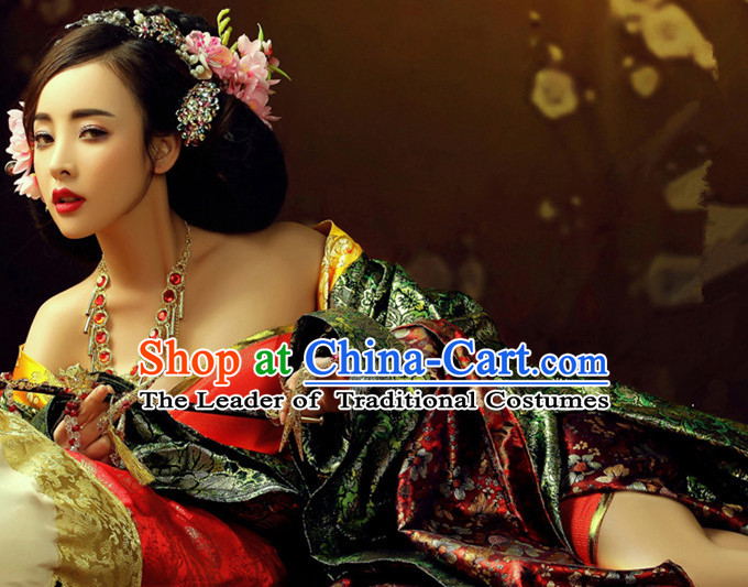 Chinese Sexy Women's Clothing & Apparel Chinese Traditional Dress Theater and Reenactment Costumes and Headwear Complete Set