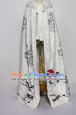 Chinese Women Traditional Royal Empress Mantle Dress Cheongsam Ancient Chinese Imperial Clothing Cultural Robes Complete Set