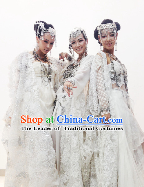 Chinese Ancient Han Fu Clothing Robes Tunics Accessories Traditional China Clothes Women Adults Kids
