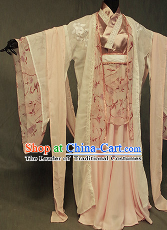 Chinese Ancient Han Fu Fairy Clothing Robes Tunics Accessories Traditional China Clothes Adults Kids