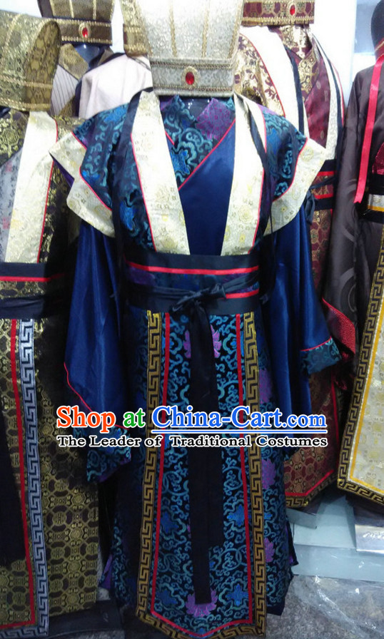 Ancient Chinese Official Robe and Hat Complete Set for Men