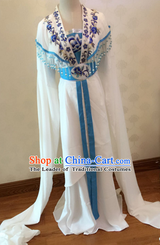 Chinese Yue Opera Long Sleeves Dance Costumes Huang Mei Opera Costume Complete Set for Women