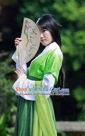Asian Traditional High Quality Hanfu Fairy Princess Goddness Clothes Costume Costumes Complete Set for Women Girls Children Adults