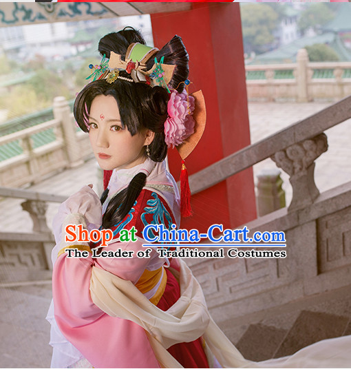 Cosplay Princess Hanfu Hanzhuang Han Fu Han Clothing Traditional Chinese Dress National Costume Complete Set