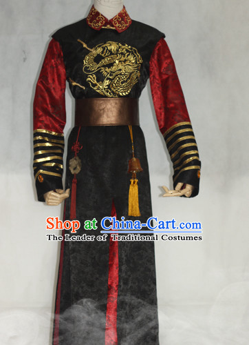 Ancient Prince Hanfu Hanzhuang Han Fu Han Clothing Traditional Chinese Dress National Costume Complete Set for Men or Boys