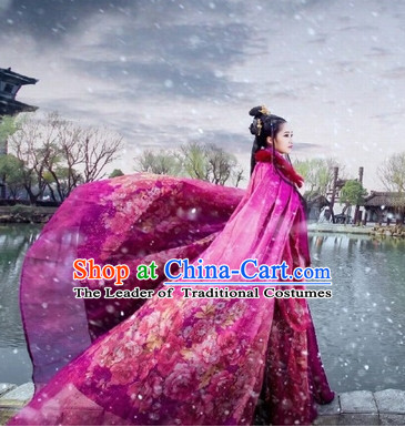 Purple Ancient Chinese Princess Costume Hanfu Clothing High Quality Chinese National Costumes Complete Set for Women