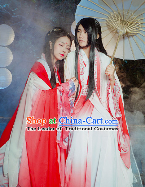 Ancient Chinese Couple Dresses Hanzhuang Han Fu Han Clothing Traditional Chinese Dress Hanfu National Costume Complete Set for Women and Men