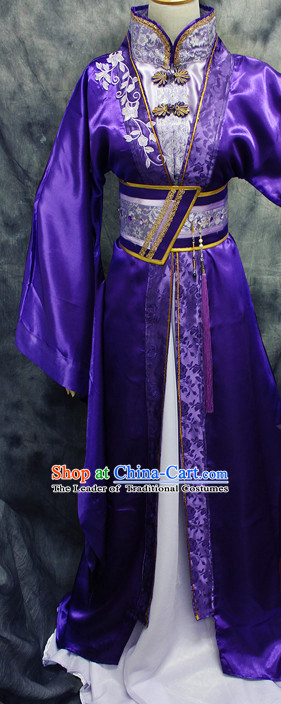Chinese Classical Royal Hanfu Han Fu Clothes and Hairpieces Complete Set for Men