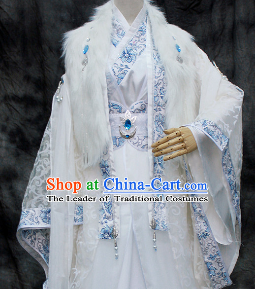 Chinese Classical Emperor Imperial Robe Clothing Hanfu Han Fu Complete Set for Men