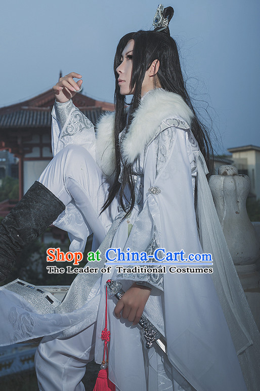 Chinese Classical Emperor Imperial Robe Cosplay Clothes Hanfu Han Fu Complete Set for Men