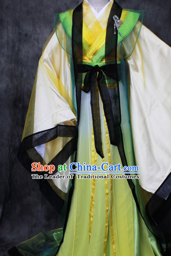 Chinese Classical Writer Clothes Hanfu Han Fu Costumes for Men