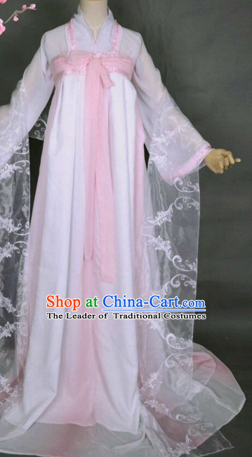 Top Chinese Ancient Tang Dynasty Artist Dresses Theater and Reenactment Costumes Complete Set for Women Girls
