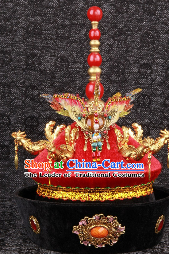 Top Handmade Chinese Ancient Imperial Empress Wedding Phoenix Hat