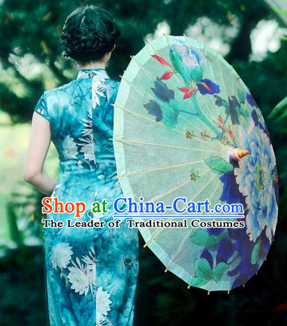 Asian Dance Umbrella China Handmade Classical Umbrellas Stage Performance Umbrella Dance Props