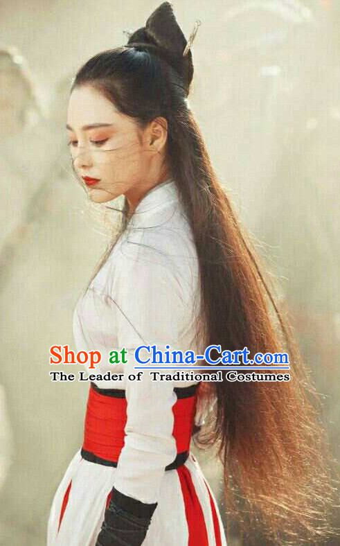 Chinese Classical Swordswoman Costume Complete Set