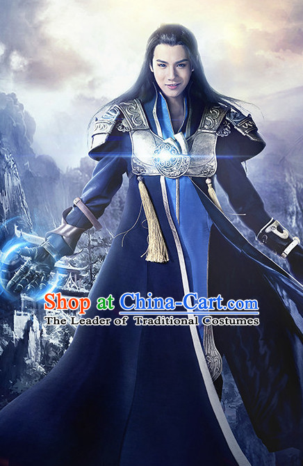 Chinese Ancient Swordsman Hanfu Clothes Film Hero Costumes Traditional Knight Costume Complete Set