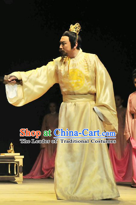 China Ancient Tang Dynasty Emperor Opera Costume Drama Stage Costumes Complete Set