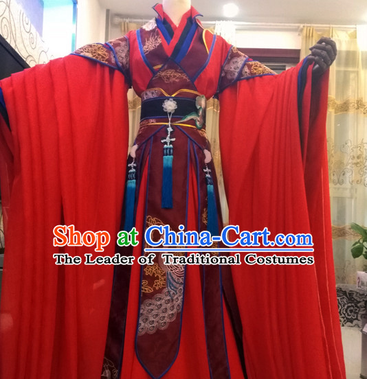 Ancient Chinese Royal Princess Costumes Flower Costume Traditional Chinese Fairy Hanfu Han Fu Costumes Ancient Cosplay Complete Set