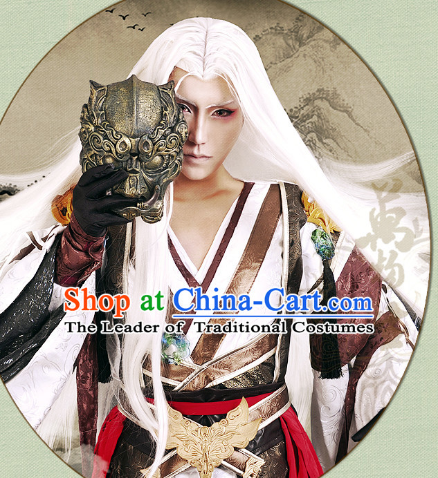 Chinese Swordsman Hanfu Robe Knight Clothing Handmade Bjd Dress Opera Costume Drama Costumes Complete Set