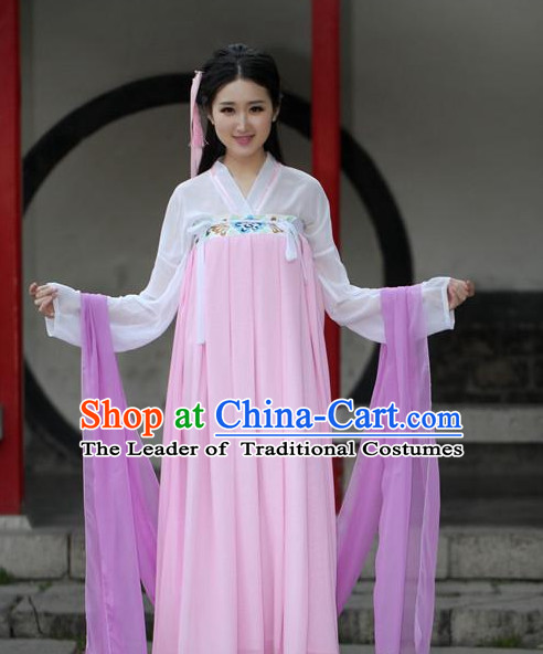 Ancient Chinese Women Dresses Pink Hanfu Girls China Classical Clothing Histroical Dress Traditional National Costume Complete Set