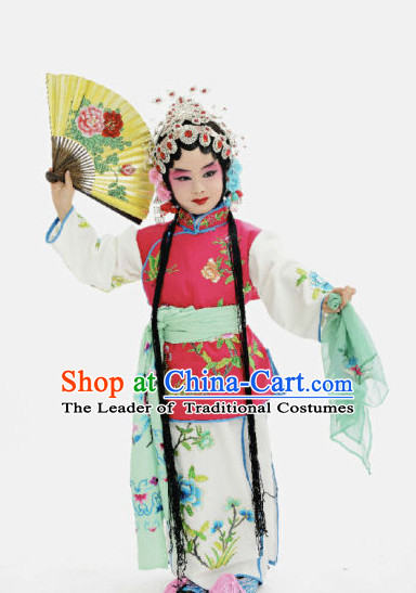 Ancient Chinese Children Opera Costumes Peking Opera Official Costume Historical Dress Traditional National Costume Complete Set