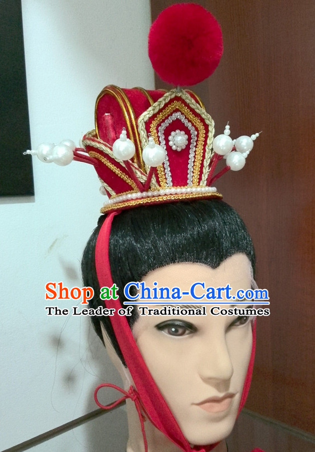 Ancient Chinese Prince Hat Hair Accessories Headpiece Headdress Crown