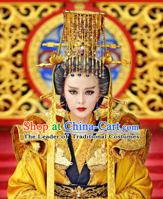Ancient Chinese Emperor Hat Hair Accessories Headpiece Headdress Crown