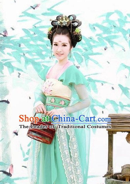Custom Made Hanfu Traditional Chinese Clothes Stage Performance Costumes