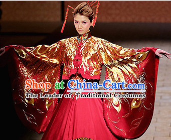 Chinese Traditional Wedding Dresses Bridal Wedding Gown Embroidered Phoenix Cloth