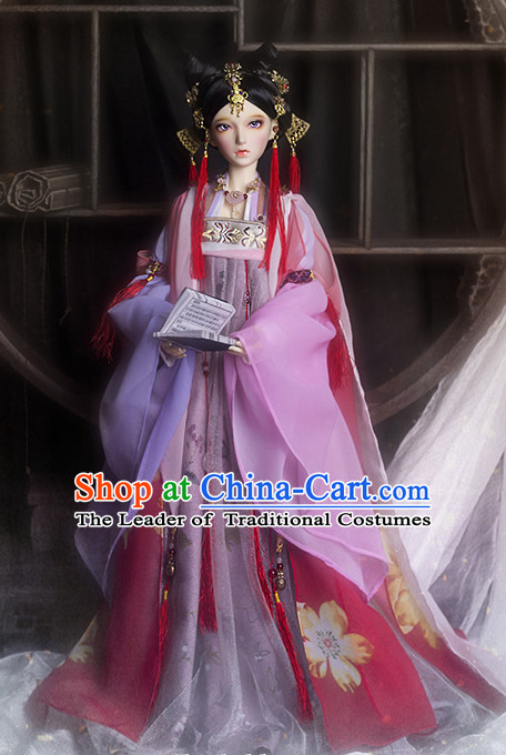 Ancient Chinese Princess Costumes Clothing Traditional Costumes Hanfu and Accessories Complete Set
