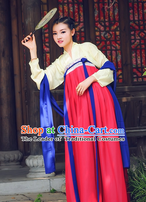 Ancient Chinese Tang Dynasty Dresses Hanfu Wedding Dress Hanbok Kimono Complete Set for Women