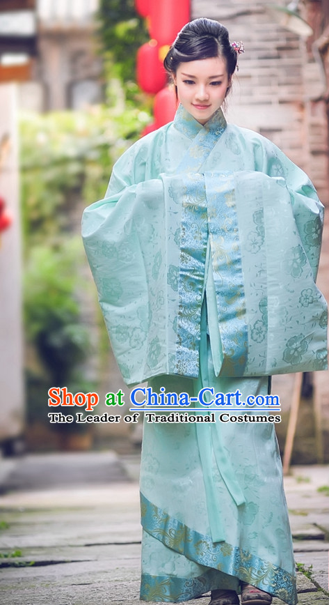 Ancient Chinese Han Dynasty Dresses Hanfu Wedding Dress Hanbok Kimono Complete Set for Women