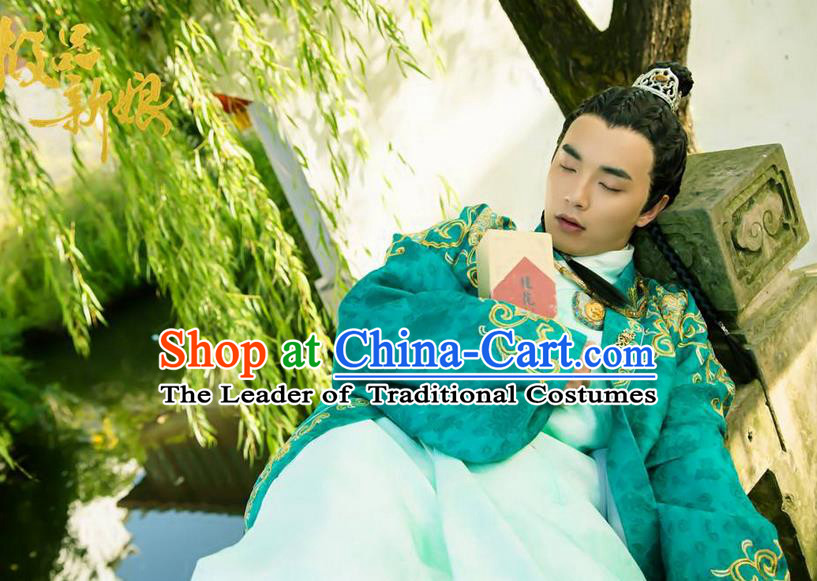 Traditional Chinese Costume Chinese Ancient Royal Nobility Men Dress, Ming Dynasty Prince Robe Costume for Men