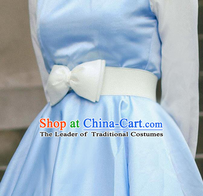 Traditional Classic Elegant Bowknot Belt, Restoring Ancient Lace Princess Handmade Elastic Waist Sealing for Women