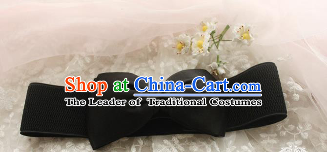 Traditional Classic Elegant Bowknot Belt, Restoring Ancient Princess Handmade Elastic Waist Sealing for Women