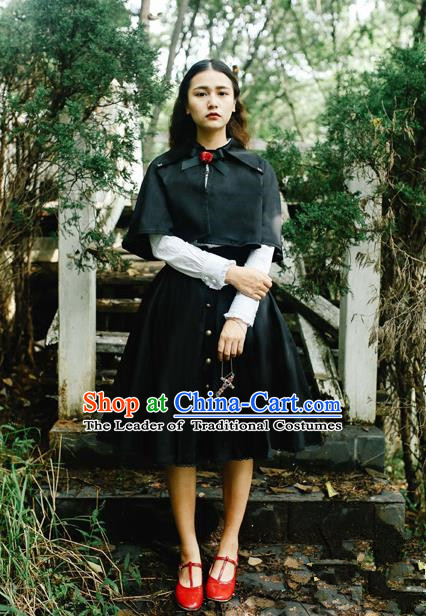 Traditional Classic Elegant Women Costume Cape, Restoring Ancient Gothic Princess Cape Jacket for Women