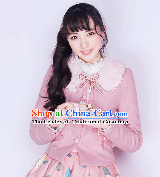 Traditional Classic Elegant Women Costume Woolen Jacket, Restoring Ancient Wool Short Coat  for Women