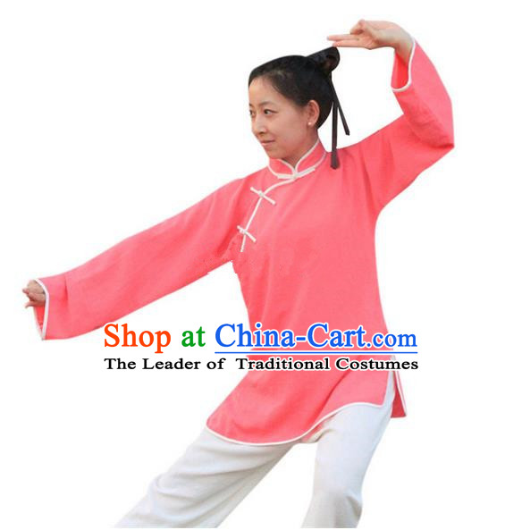 Traditional Chinese Wudang Uniform Taoist Nun Uniform Linen Priest Frock Kungfu Kung Fu Clothing Clothes Pants Shirt Supplies Wu Gong Outfits, Chinese Tang Suit Wushu Clothing Tai Chi Suits Uniforms for Women