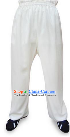 Traditional Chinese Wudang Uniform Taoist Linen Pants Wu Gong Trousers, Chinese Tang Suit Wushu Clothing Tai Chi Pants for Men